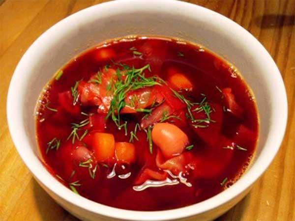 борщ красный по украинский рецепт