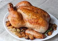 курица с чесноком